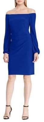 Lauren Ralph Lauren Off-the-Shoulder Bishop-Sleeve Dress