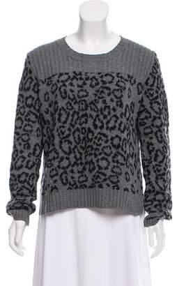 See by Chloe Leopard Print Long Sleeve Sweater