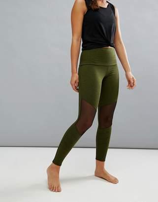 Onzie Mesh Insert Crop Yoga Leggings