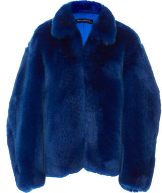 Sally LaPointe Oversized Faux Fur Jacket