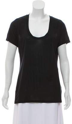 L'Agence Short Sleeve Scoop Neckline Shirt w/ Tags