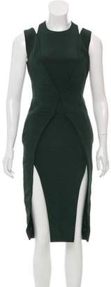 Cushnie et Ochs Cutout Accented Silk Dress