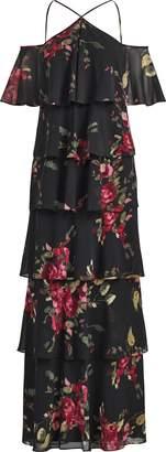 Ralph Lauren Tiered Cold-Shoulder Dress