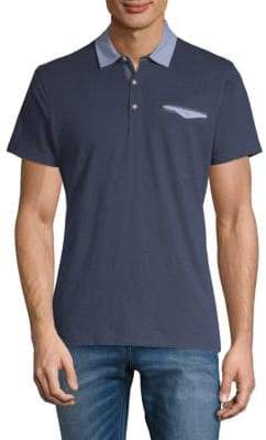 Saks Fifth Avenue Dotted Short-Sleeve Polo