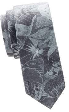 Valentino Graphic Skinny Silk Tie