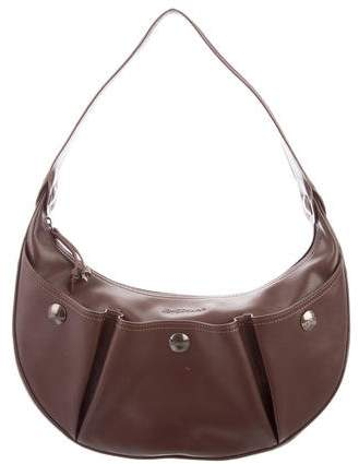 Longchamp Leather Hobo Bag - BROWN - STYLE