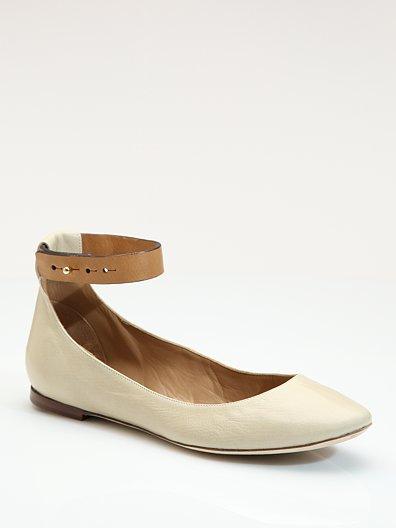 Chloe Ankle Strap Ballet Flats