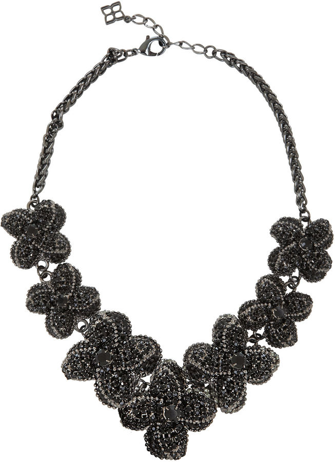 BCBGMAXAZRIA Pave Floral Necklace