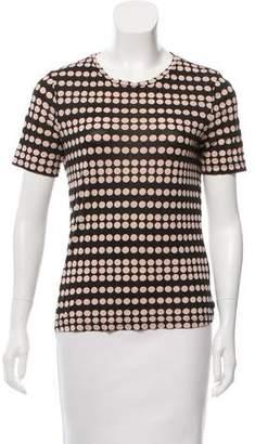 Tory Burch Short Sleeve Polka Dot T-Shirt