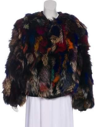 Alice + Olivia Fur Becky Reversible Jacket