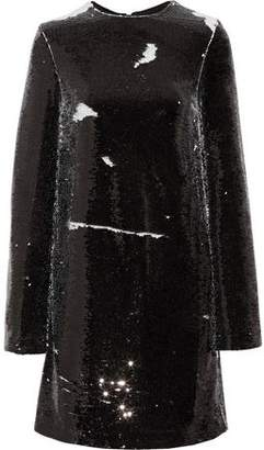 MSGM Sequined Crepe Mini Dress