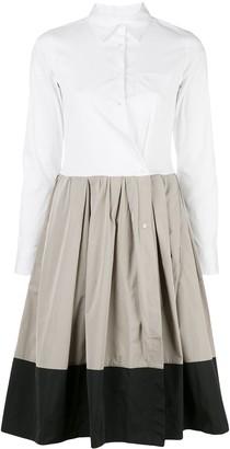 Sara Roka Elenat tri-colour shirt dress