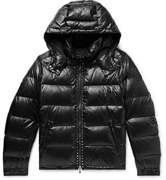 Valentino Rockstud Quilted Shell Hooded Down Jacket - Men - Black