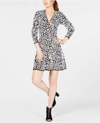 INC International Concepts I.n.c. Petite Animal-Print Sweater Dress, Created for Macy's