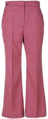 Fendi plaid cropped trousers