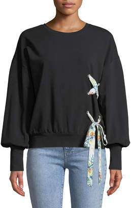 Marled By Reunited Ribbon-Tie Sweatshirt