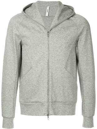 Attachment raglan sleeve hoodie