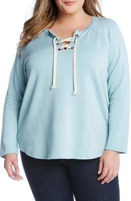 Karen Kane Lace-Up Sweatshirt