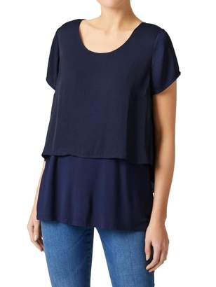 Jeanswest Skyer Post Maternity Jersey Woven Layer Top