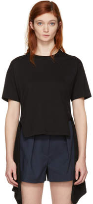 Cédric Charlier Black Hanging Ruffle T-Shirt