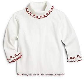 eb9d0ff0f8 Florence Eiseman Toddler s  Little Girl s Ruffled-Trim Cotton Turtleneck