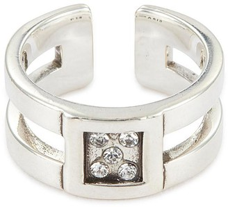 Philippe Audibert 'Doan' Swarovski crystal cut-out open ring