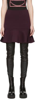 McQ Alexander Mcqueen Purple Peplum Miniskirt $395 thestylecure.com