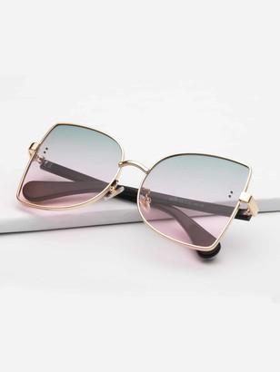 Shein Ombre Lens Metal Frame Sunglasses
