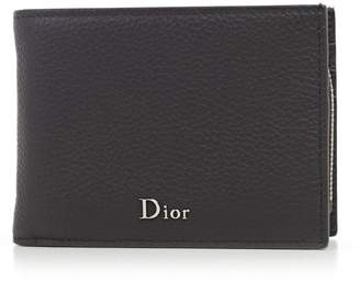 Christian Dior Logo Plaque Wallet
