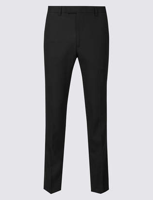M&S CollectionMarks and Spencer Big & Tall Black Slim Fit Trousers