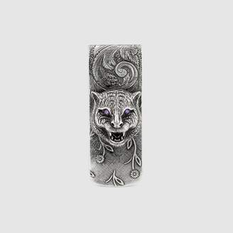Gucci Garden feline head money clip