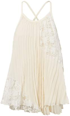 Derek Lam 10 Crosby Pleated Lace Top