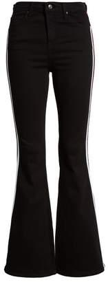 Topshop MOTO Jamie Side Stripe Flared Jeans