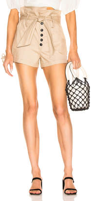 Marissa Webb Gia Canvas Shorts in Sandshell | FWRD