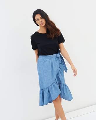 Vero Moda Joanna Ruffle Wrap Skirt
