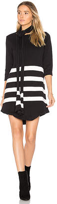 For Love & Lemons Clemence Tunic Dress in Black & White $162 thestylecure.com