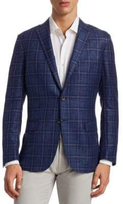 Saks Fifth Avenue COLLECTION Plaid Sportcoat
