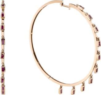 Shay Jewelry Diamond Baguette Dangle Hoops
