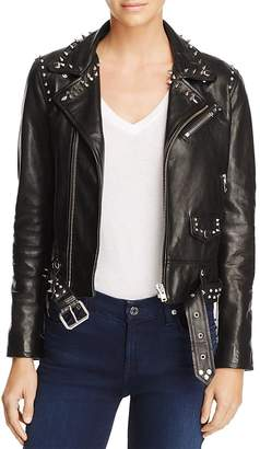 Iro . Jeans IRO.JEANS Guara Studded Leather Moto Jacket