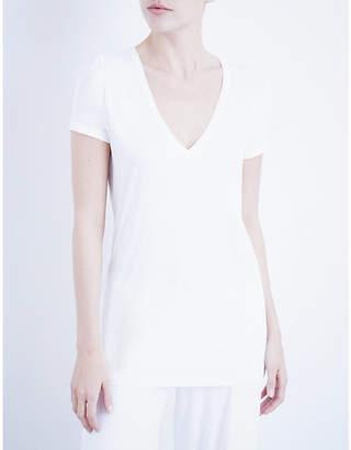 Skin V-neck easy pima-cotton t-shirt