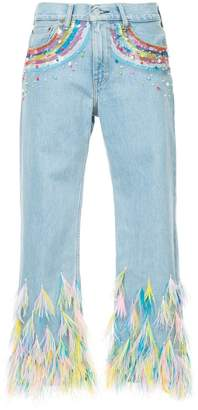 Romance Was Born rainbow visions jeans