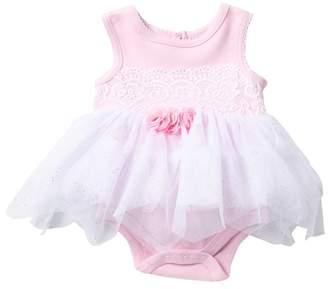 6bbb2cb39 Baby Starters Lace Trim Tulle Skirted Bodysuit (Baby Girls)