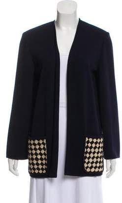 Valentino Embroidery Knit Cardigan Navy Embroidery Knit Cardigan