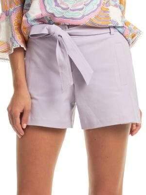 Trina Turk Bayshore Drive Belted Shorts