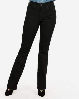 Express High Waisted Black Perfect Curves Barely Boot Jeans