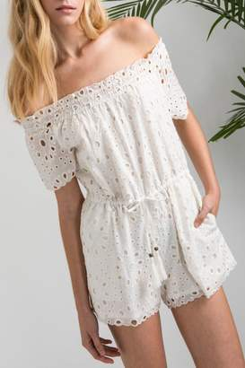 Allison Collection Eyelet Ots Romper