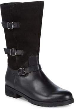 Blondo Lenie Leather Mid-Calf Boots