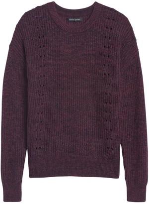 Banana Republic Pointelle-Knit Fuzzy Sweater