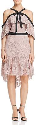 Adelyn Rae Tracy Cold-Shoulder Lace Dress