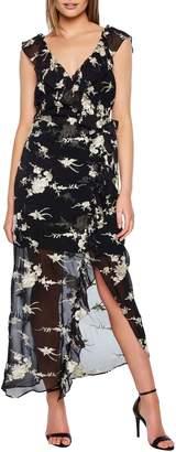 Bardot Embroidered Faux Wrap Dress